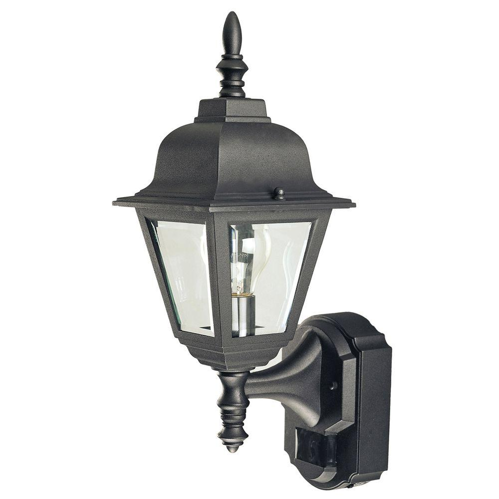 null Heath Zenith 180 Degree Country Cottage Motion Sensing Decorative Lantern - Black-DISCONTINUED