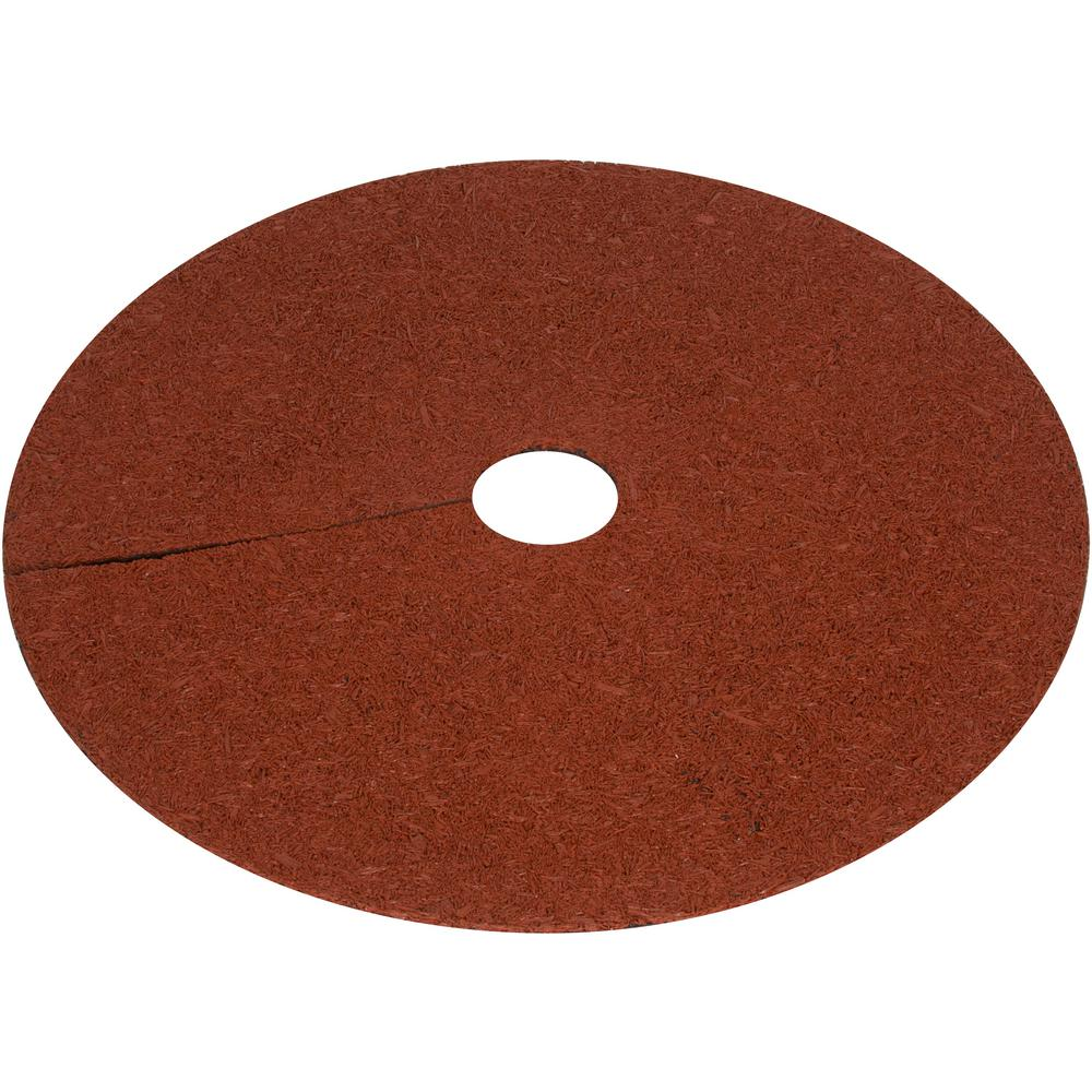 Trademark Innovations 30 in. x 1/2 in. Reversible Composite Mulch Ring Tree Protector Mat