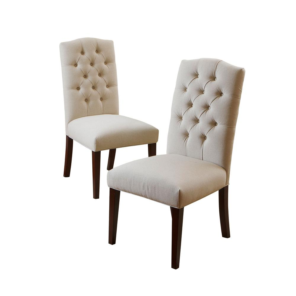 7a3e377f383 Noble House Crown Off White Linen Dining Chair (Set of 2)-218833 ...