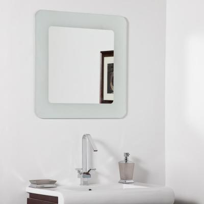 27.6 in. x 27.6 in. Square Bella Modern Bathroom Mirror with Polished Edge