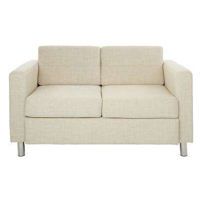 Pacific Cream Fabric Loveseat