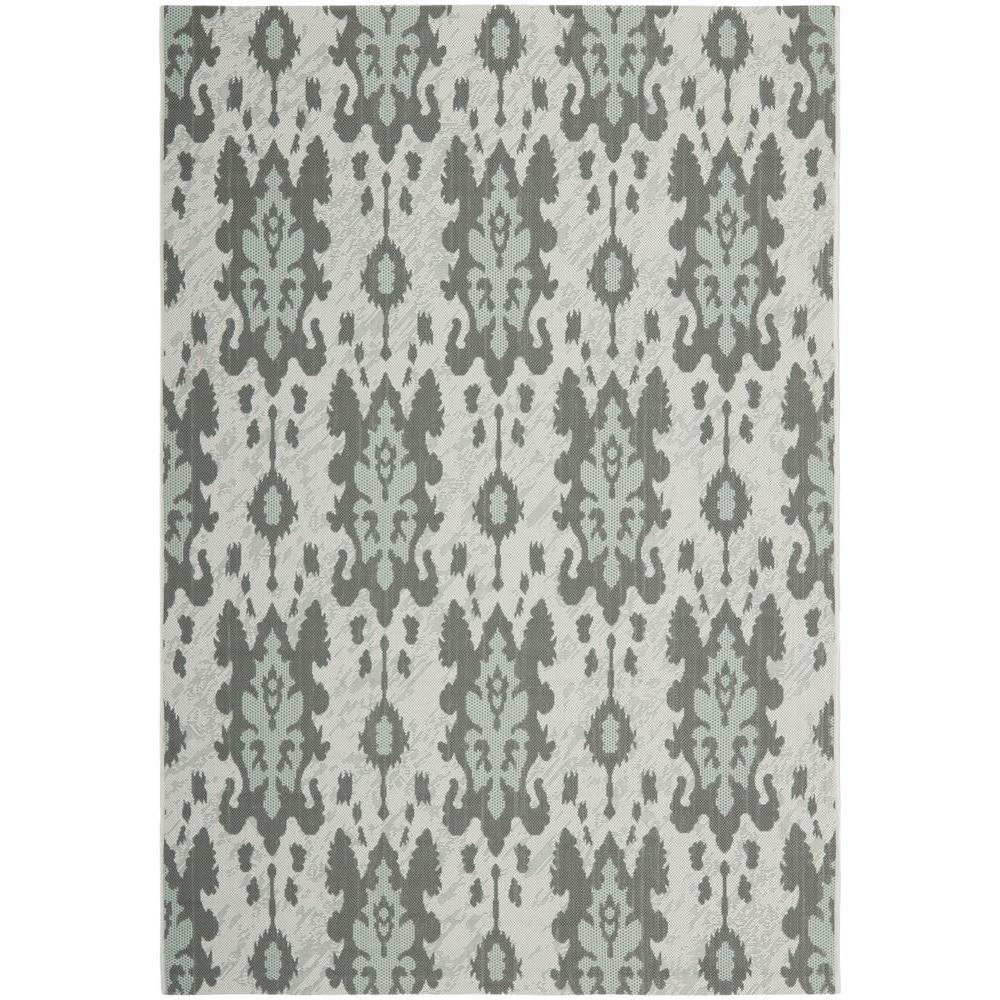 Safavieh Courtyard Light Gray Anthracite Aqua Weft 7 Ft X 10 Indoor