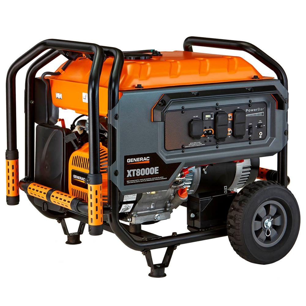 8000-Watt Electric Powered Portable Generator, 49 State/CSA