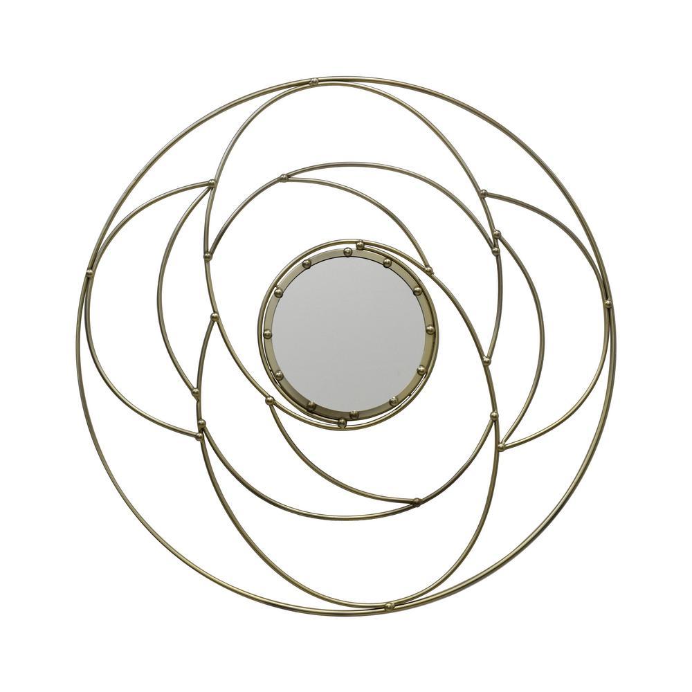 Evonne Modern Round Gold Wall Mirror