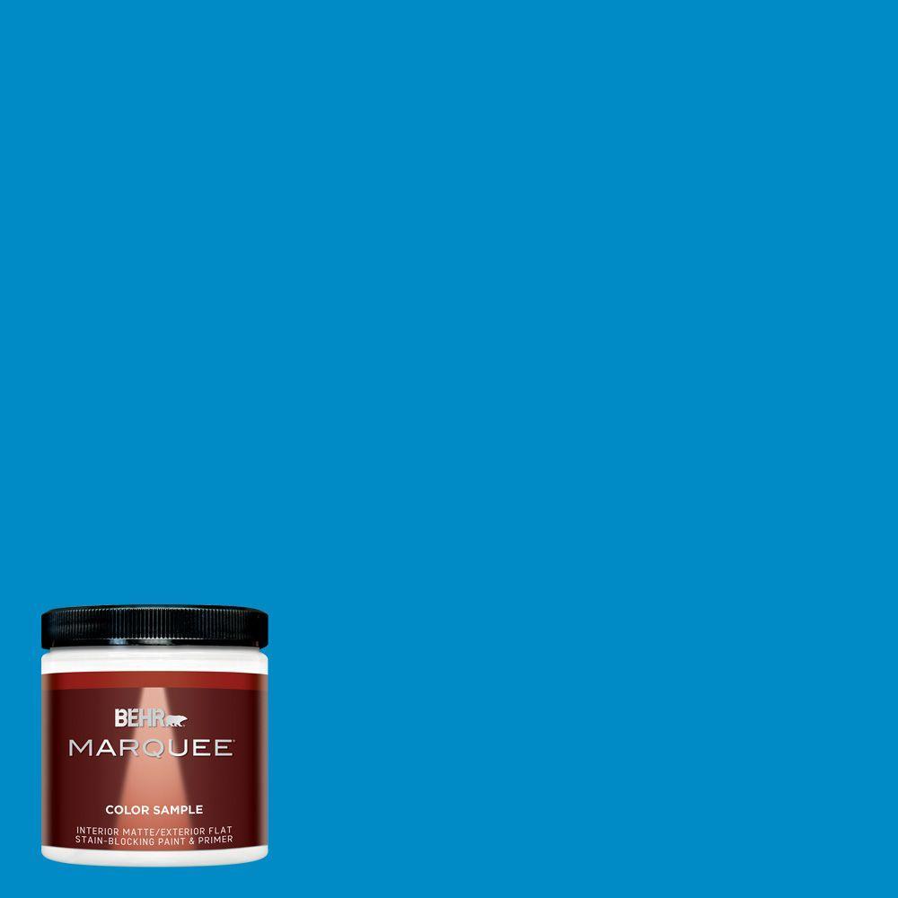 8 oz. #MQ4-57 Celebration Blue Interior/Exterior Paint Sample