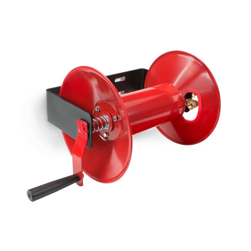 Tekton Hand Crank Air Hose Reel 100 ft Lightweight Compact Steel Construction