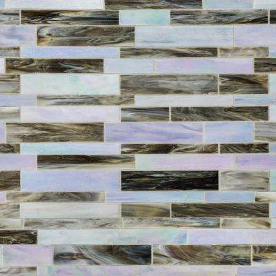 Matchstix Tidal Wave 12 in. x 12 in. x 3 mm Glass Floor and Wall Tile
