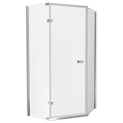 35-7/8 in. x 35-7/8 in. x 71-7/8 in. Semi-Frameless Neo-Angle Shower Enclosure