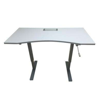 Grey Desk with Adjustable Height
