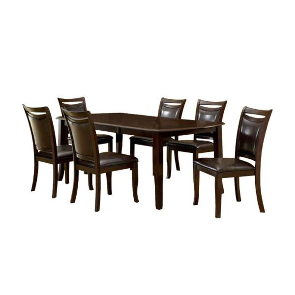 Contemporary Espresso Wooden Dining Table