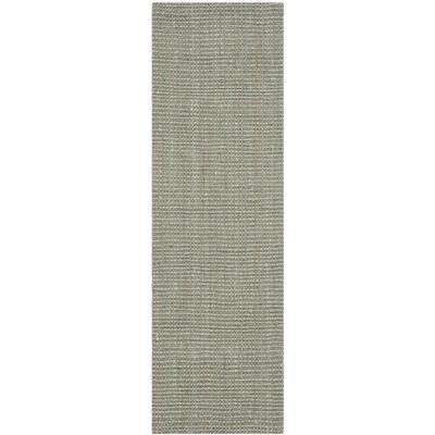 Natural Fiber Gray 2 ft. 3 in. x 19 ft. Runner Rug