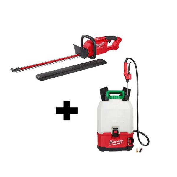 M18 18-Volt Lithium-Ion Cordless Switch Tank Backpack Pesticide Sprayer and FUEL Hedge Trimmer Combo Kit