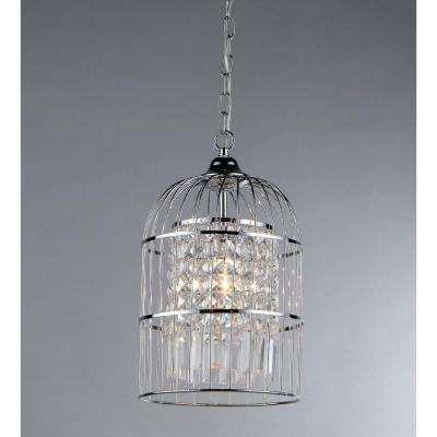 Chrome cage chandeliers lighting the home depot rheia 1 light crystal chandelier with shade aloadofball Choice Image
