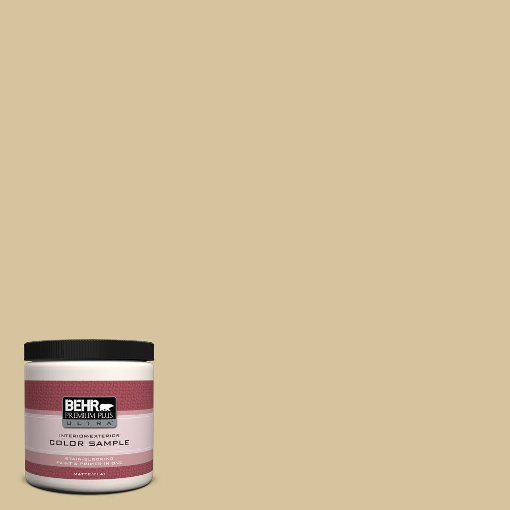 BEHR Premium Plus Ultra 8 oz. Home Decorators Collection White Oak Interior/Exterior Paint Sample