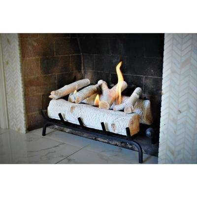 24 in. Birch Fireplace Log Set