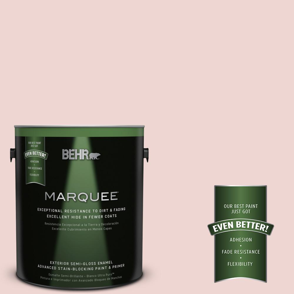 BEHR MARQUEE 1-gal. #150E-1 Delicate Blush Semi-Gloss Enamel Exterior Paint