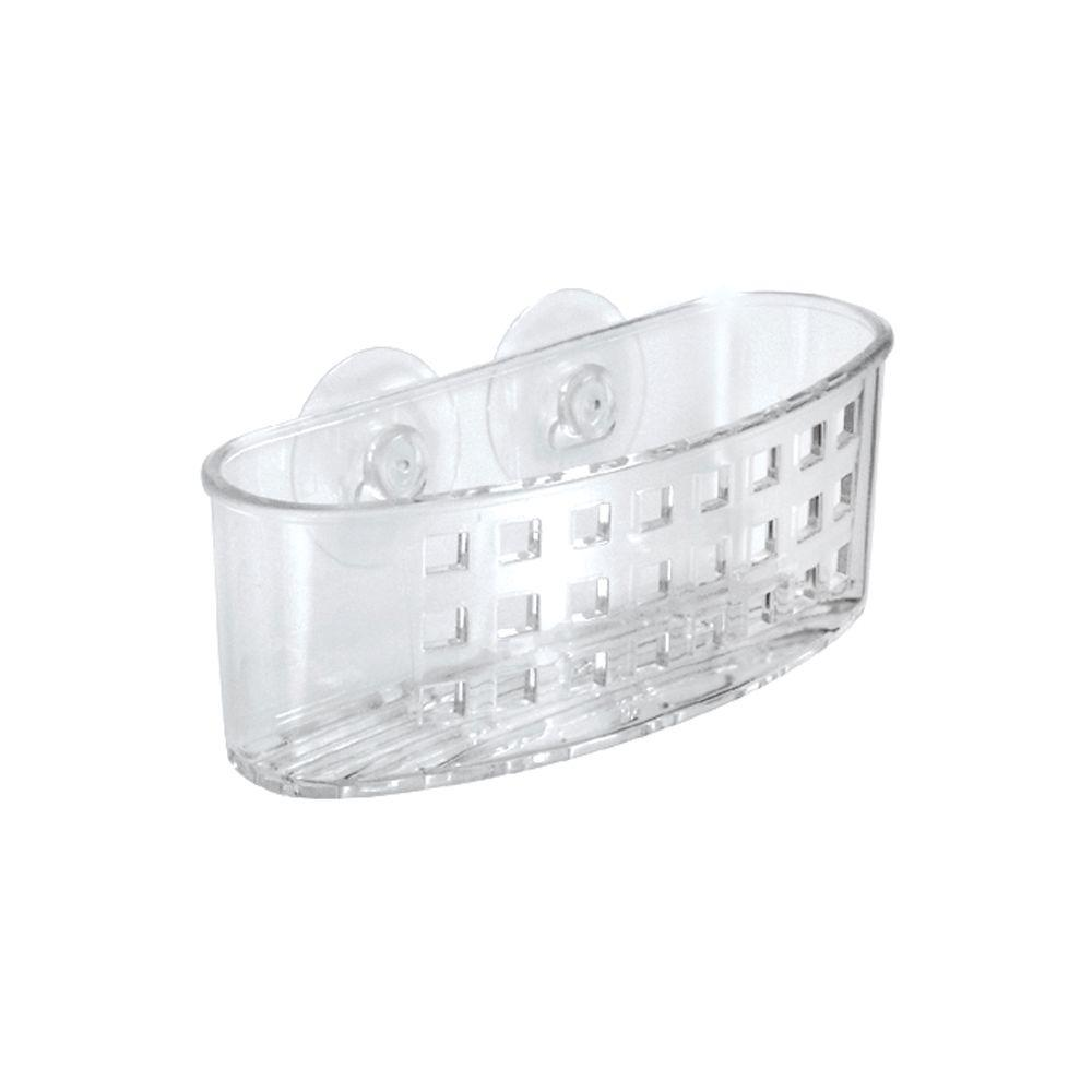 interDesign Clear Suction Bath Caddy-23600 - The Home Depot