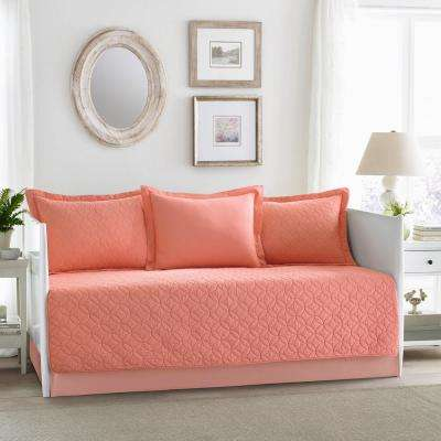 La 5-Piece Solid Red Daybed Set