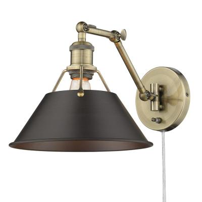 Orwell 9 in. Aged Brass Sconce