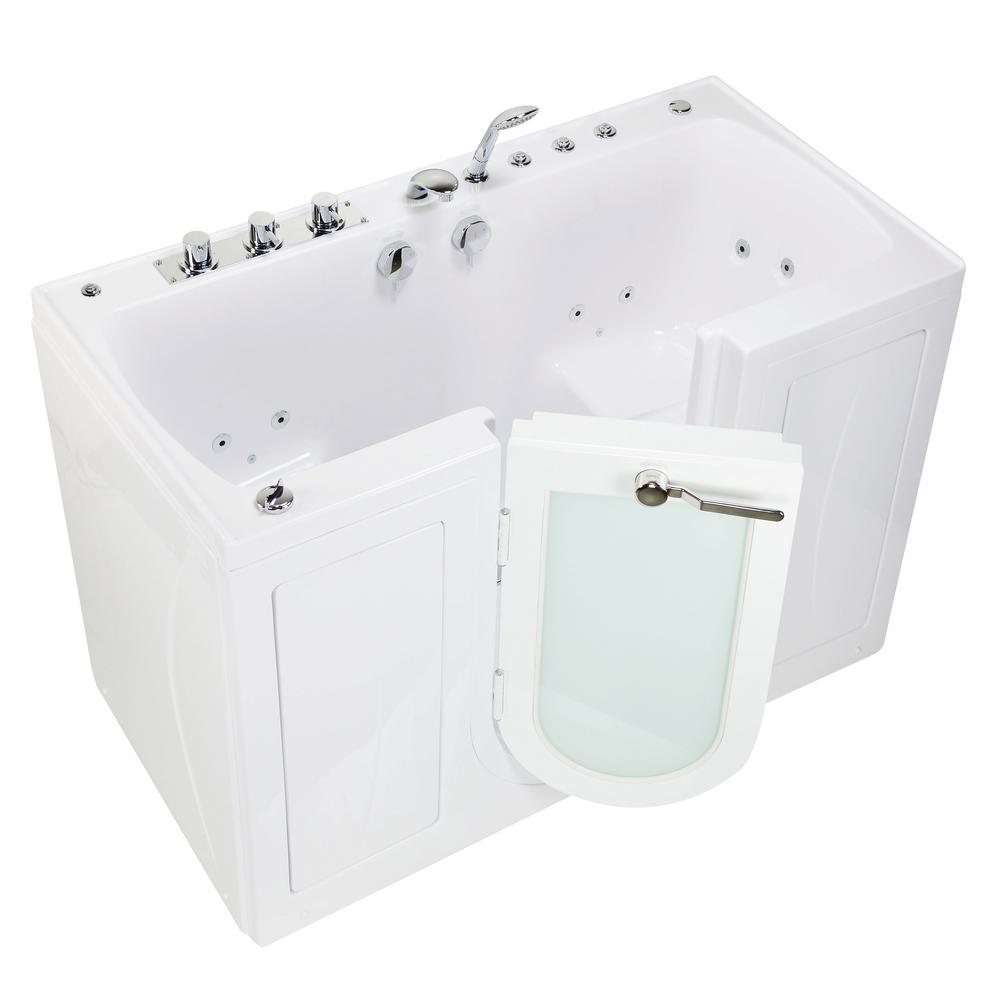 Walk In Whirlpool Air Bath MicroBubble Bathtub In White LH