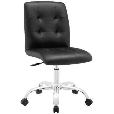 Prim Armless Mid Back Office Chair in Black
