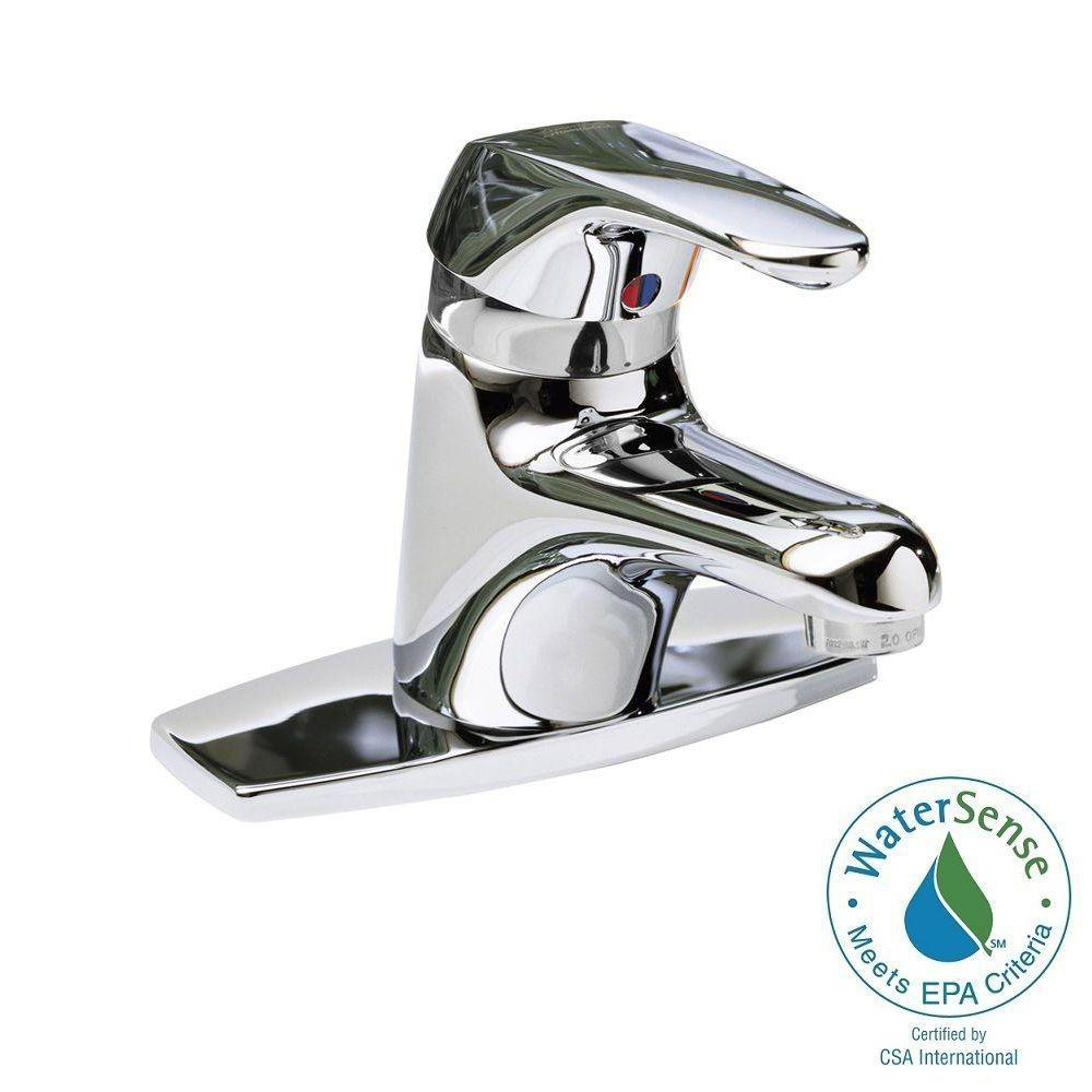 American Standard Seva 4 In. Centerset Single Handle Bathroom Faucet In  Chrome Less Pop