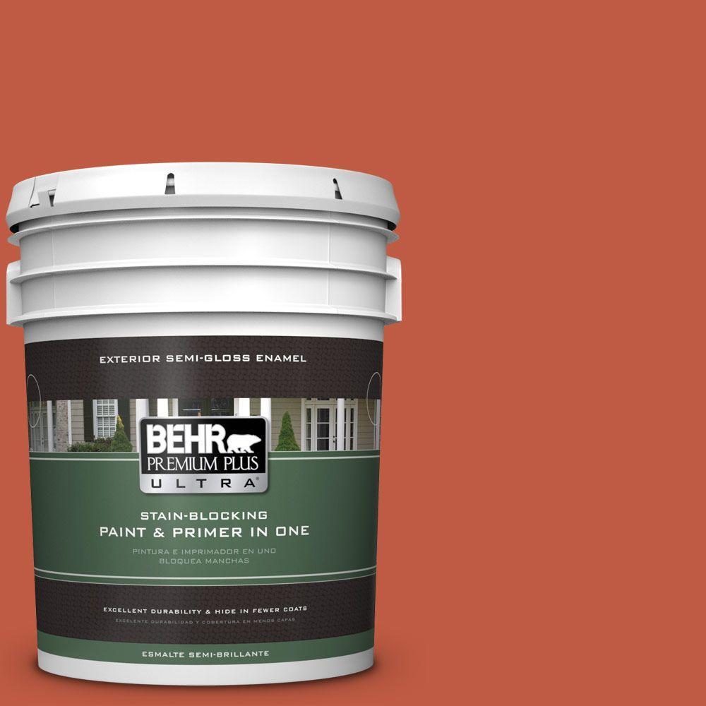 BEHR Premium Plus Ultra 5-gal. #M180-7 Deep Fire Semi-Gloss Enamel Exterior Paint