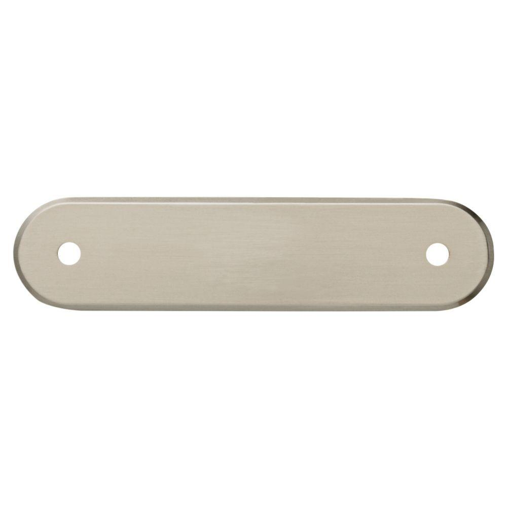 Satin Nickel Oval Drawer Pull Backplate