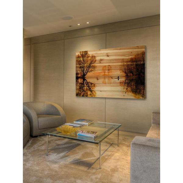 16 in. H x 24 in. W ''Glass Lake'' by Parvez