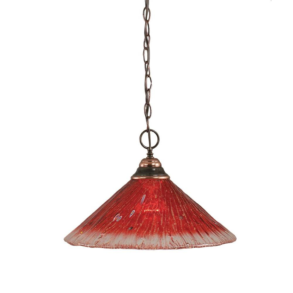 Filament Design Concord 1-Light Black Copper Pendant
