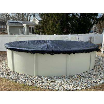 24 ft. Round Above Ground Pools Winter Leaf Net