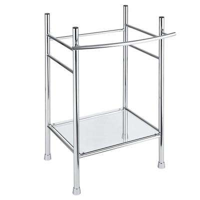 Edgemere Pedestal Leg in Polished Chrome
