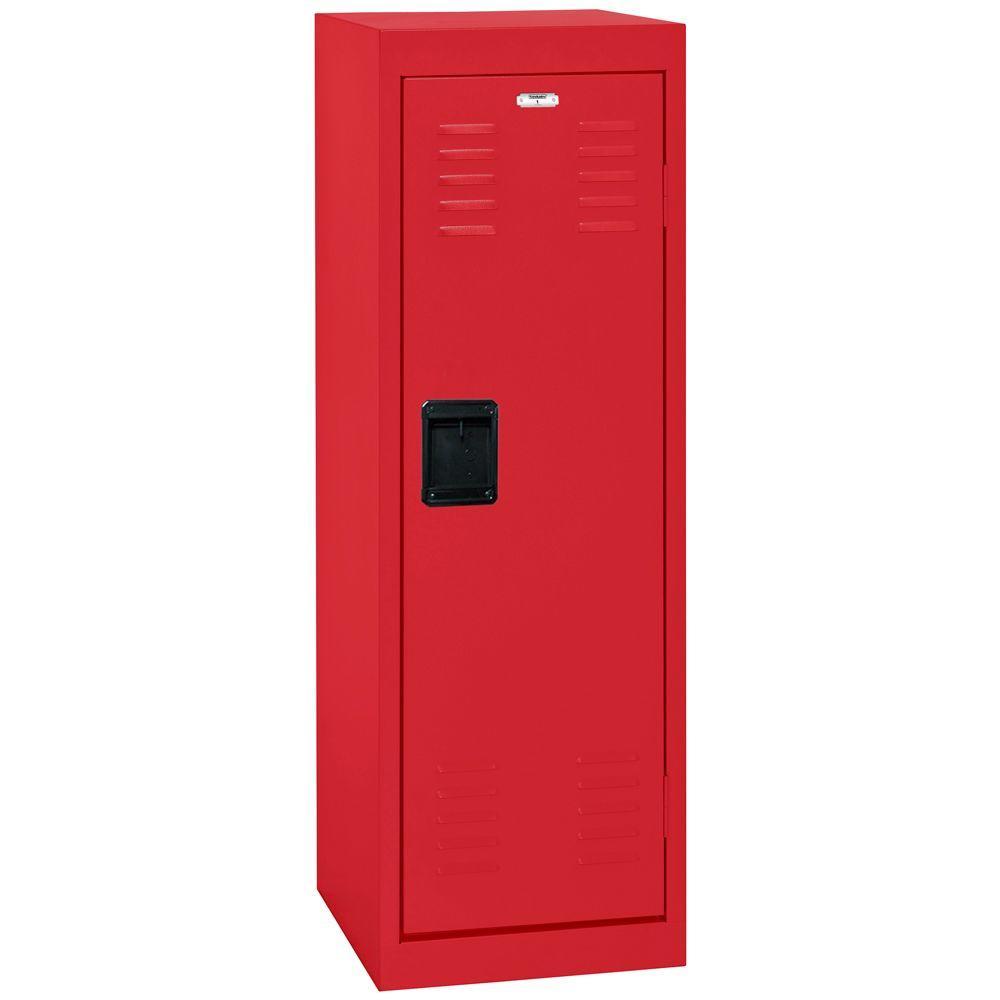 Sandusky 48 in. H x 15 in. W x 15 in. D 1-Tier Steel Locker in Fire Engine Red