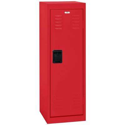 48 in. H x 15 in. W x 15 in. D 1-Tier Steel Locker in Fire Engine Red