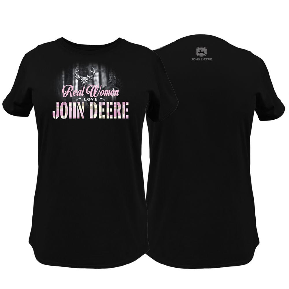 John Deere Ladies XXL Real Women Love T-Shirt in Black