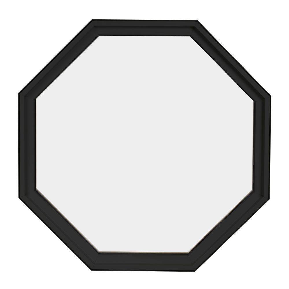 24 in. x 24 in. Octagon Bronze 4-9/16 in. Jamb Geometric