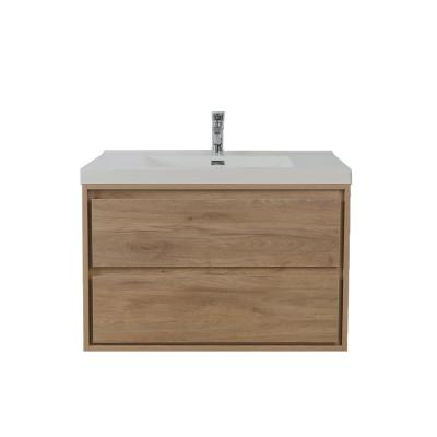 Sage 36 in. W Vanity in White Oak with Reinforced Acrylic Vanity Top in White with White Basin