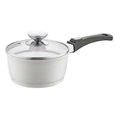 Vario Click Pearl 1.25 Qt. Induction Round Sauce Pan with Lid White