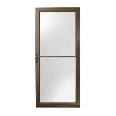 36 in. x 80 in. 3000 Series Terratone Left-Hand Self-Storing Easy Install Storm Door with Oil-Rubbed Bronze Hardware