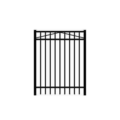 Jefferson 4 ft. W x 4 ft. H Black Aluminum 3-Rail Fence Gate