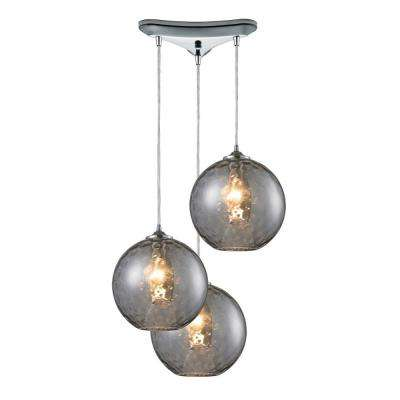Watersphere 3-Light Polished Chrome Ceiling Mount Pendant  sc 1 st  The Home Depot & Clear - Chrome - Cluster - Pendant Lights - Lighting - The Home Depot azcodes.com