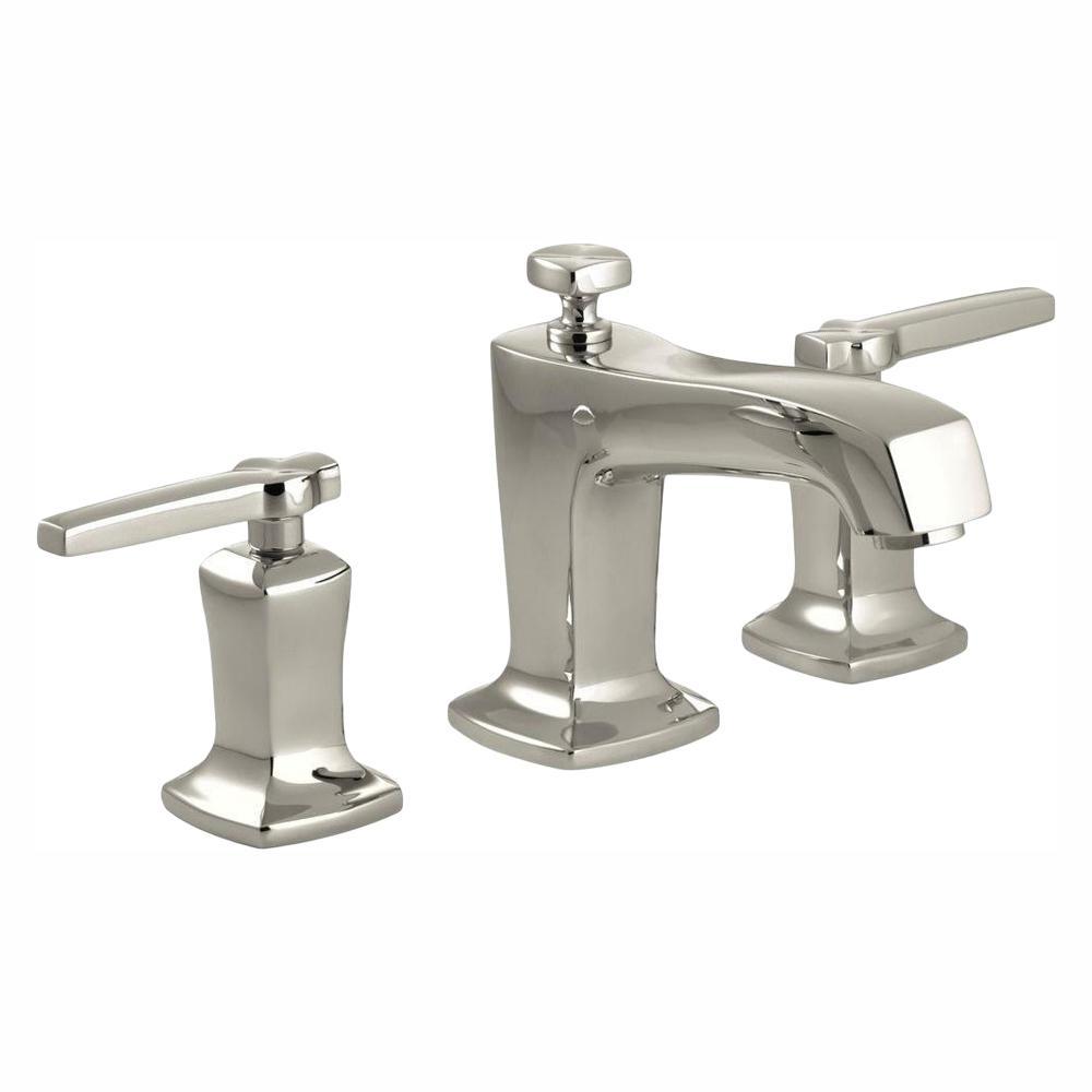 KOHLER Margaux 8 in. Widespread 2-Handle Low-Arc Water-Saving Bathroom Faucet in Vibrant Polished Nickel
