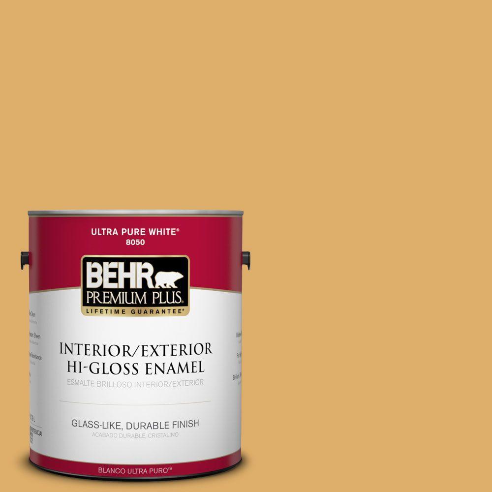 1-gal. #320D-5 Sweet Maple Hi-Gloss Enamel Interior/Exterior Paint
