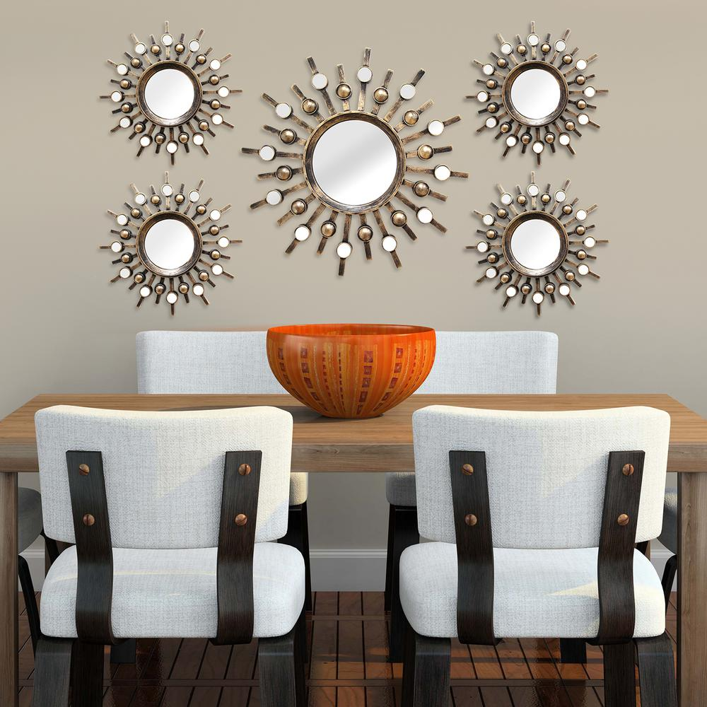 Stratton Home Decor Burst Wall Mirrors (Set of 5)-SHD0087 ...