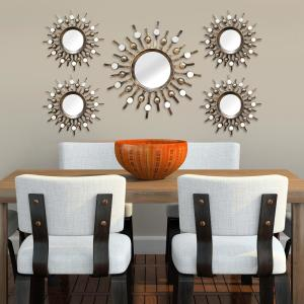 Stratton Home Decor Burst Wall Mirrors (Set of 5) by Stratton Home Decor