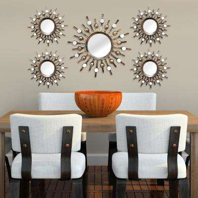 Burst Wall Mirrors (Set of 5)