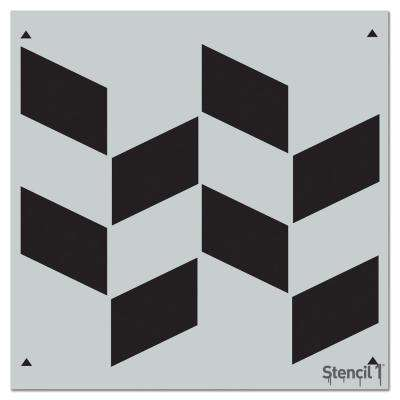 Shifted Rectangles Repeat Pattern Stencil