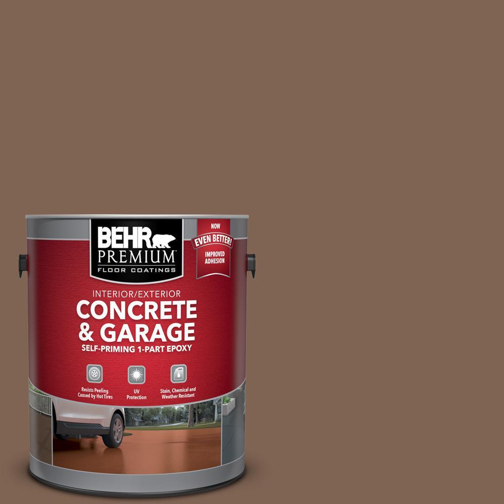BEHR Premium 1 gal. #N240-7 Joshua Tree Self-Priming 1-Part Epoxy Satin Interior/Exterior Concrete and Garage Floor Paint