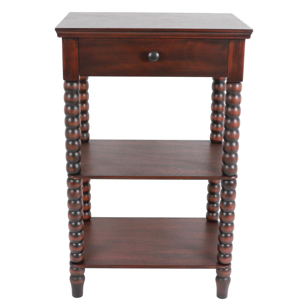 Decor Therapy Spindle Vintage Cherry Side Table