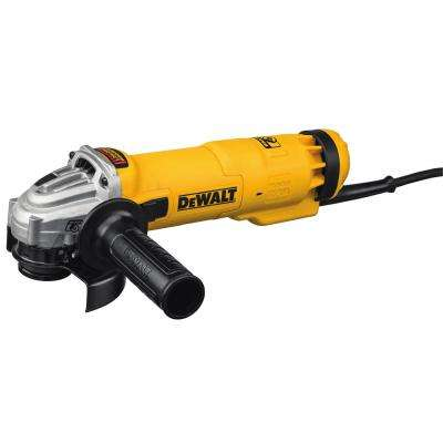 11 Amp Corded 4.5 in. Small Angle Slide Switch Grinder with Brake